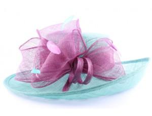 chapeau-ceremonie-airelle-en-sisal-turquoise-et-fuschia