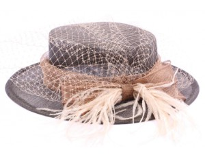 chapeau-ceremonie-fusain-marron-et-cafe