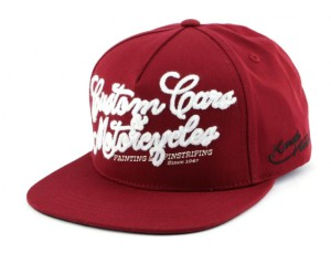 casquette-strapback-von-dutch-custom-cars-bordeaux